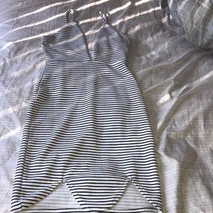 Striped bodycon